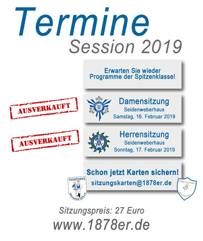 1878 Termine Session 2019 big ausverkauft